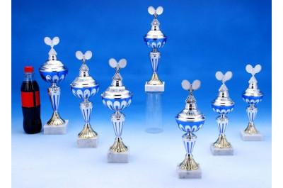 Tennis Pokale silber-blau