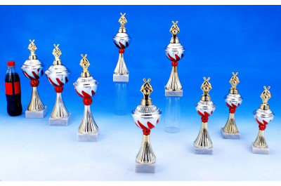 Bowling Pokale mit Flammendekor 5022-34290