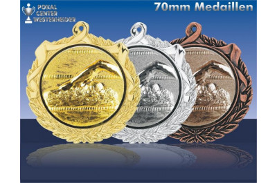70mm Schwimm-Medaillen