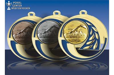 Noblesse Schwimm Medaillen BD34blau-3D47
