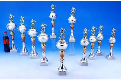 Damenfußball Pokale rot-silber-gold