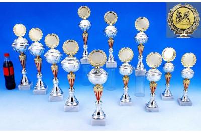 Hockey Pokale in gold-silber-rot
