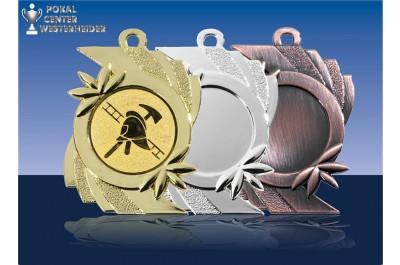 Feuerwehr Medaillen gold-bronze
