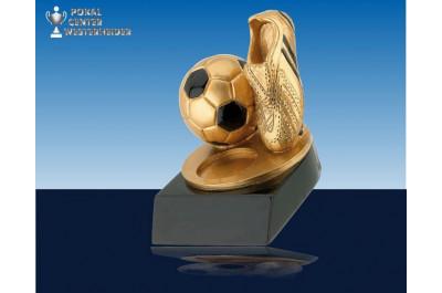 3D Fußball Ständer gold-schwarz