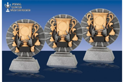 3er Relief Sport-Ständer Serie gold-silber