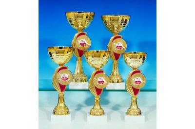Angebot 5er Pokalserie rot-gold