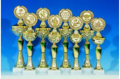 8er Pokalserie in grün-gold