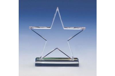 Crystal-Star 11cm Exklusive Glastrophäe