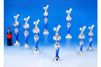 Fußball-Pokale mit Flammeneffekt in blau 6041-P225.02