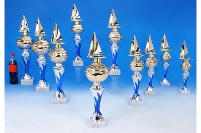 Segelregatta-Pokale mit Flammendekor 6048-34500