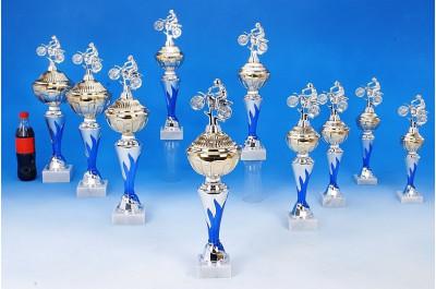 Motocross-Pokale mit Flammendekor 6048-34330