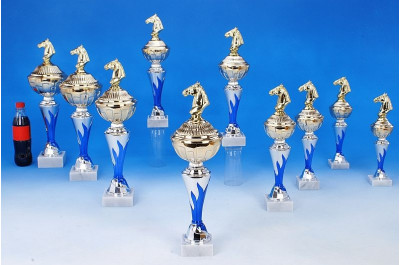 Reitsport-Pokale mit Flammendekor 6048-34404