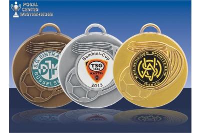 Fußballmedaillen mit Logo