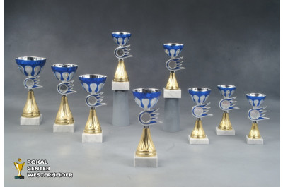 Cup Pokale 7046 blau-silber