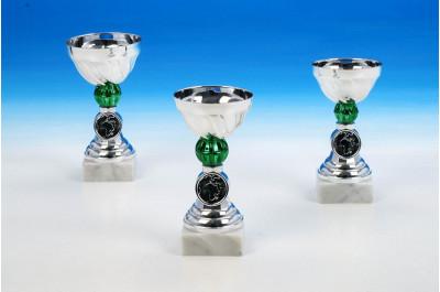 Mini Pokale 40563 in grün-silber