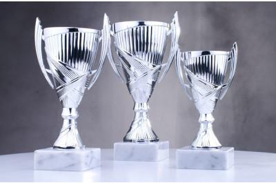 silberne Cup Pokale  O-174177-79