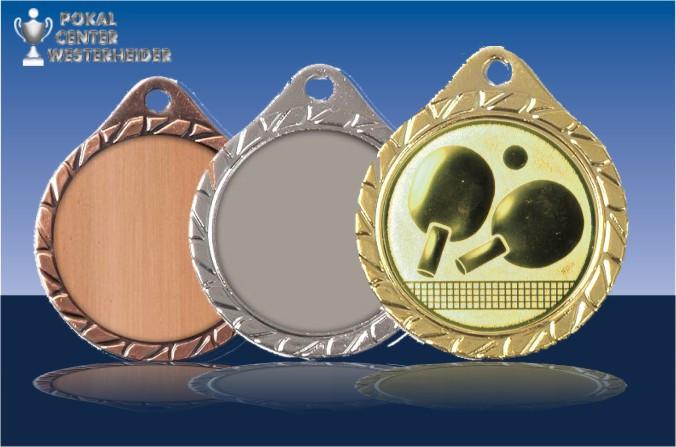 50 mm//bronze Pokal Emblem Tischtennis