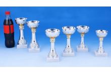6er Cup-Pokalserie silber-gold mit Gravur 4021