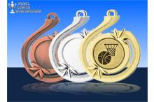 Basketballmedaillen - Welle des Erfolgs BD31A-10