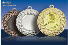Medaillenfront - Flechtrelief
