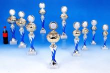 Sport-Pokale mit Flammendekor