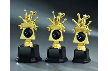 Bowlingfiguren in gold-schwarz