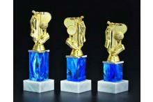 Säulen Golftrophäen blau-gold