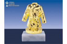 Judosportfiguren in gold