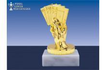 Kartenfiguren in gold
