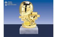 Motorsportfiguren in gold