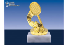 Badmintonfiguren in gold