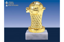 Basketballfiguren in gold BP029