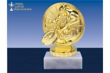 Radsportfiguren in gold