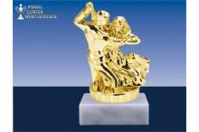 Tanzsportfiguren in gold BP039