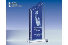 Acrylglas Award crystal-blue