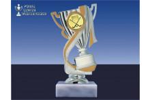 Hockeypokal-Figur mit Henkel in gold-silber