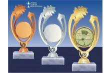Badmintonfigur GLOSSY-gold-silber-bronze
