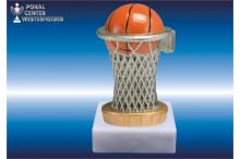 Color Basketballfigur rot-silber-gold