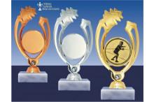 Fechtsportfiguren GLOSSY in gold-silber-bronze