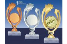 Reitsportfiguen gold-silber-bronze Springen BP95-60925