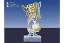 Turnsportpokal-Figur mit Henkel