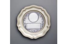 günstiger Chippendale Ehrenteller aus Metall mit prägo Ronde incl. Gravur Emblem