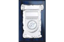 Wandplaketten-Relief Blau für 50mm Embleme