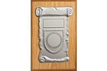 Wandplaketten-Relief Eiche-Look für 50mm Embleme