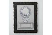 Schieferlook-Wandplaketten-Relief Rechteck für 50mm Embleme