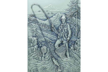 """Angler -Bildrelief als Geschenke mit Gravur"""