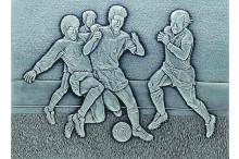 """""""Fußball Bildrelief Spielszene als Geschenke mit Gravur"""""""