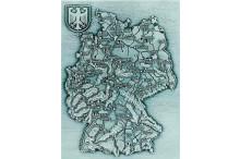 """""""Deutschlandkarten-Relief-Motiv"""" für Rahmen-Konfigurator als Geschenke mit Gravur"""