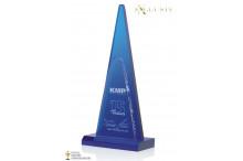 Acryl Award blue Pyramid AZ-7329