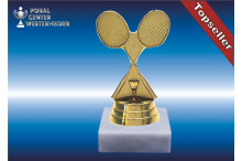 Badmintonfiguren in goldglanz